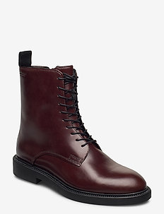 ALEX W - flat ankle boots - brown