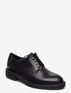 ALEX W - buty sznurowane - black