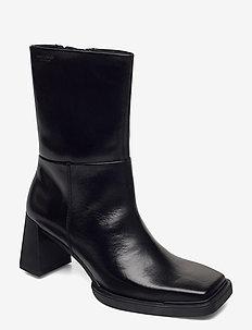 EDWINA - ankelstøvler med hæl - black