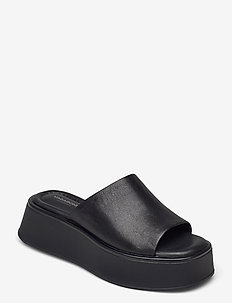COURTNEY - platte sandalen - black/ black
