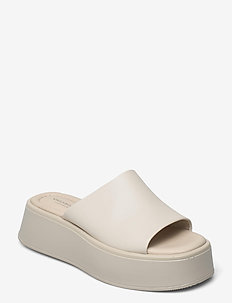 COURTNEY - platte sandalen - off white