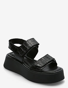 COURTNEY - flade sandaler - black/ black