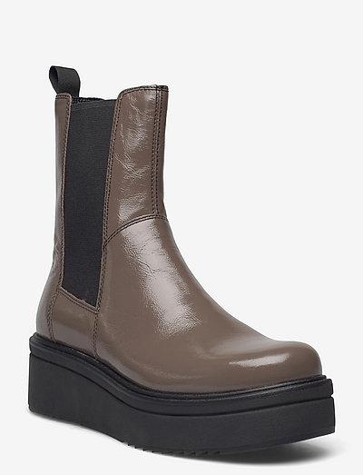 TARA - flat ankle boots - light brown
