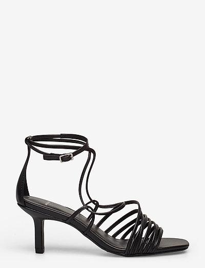 AMANDA - sandały na obcasie - black