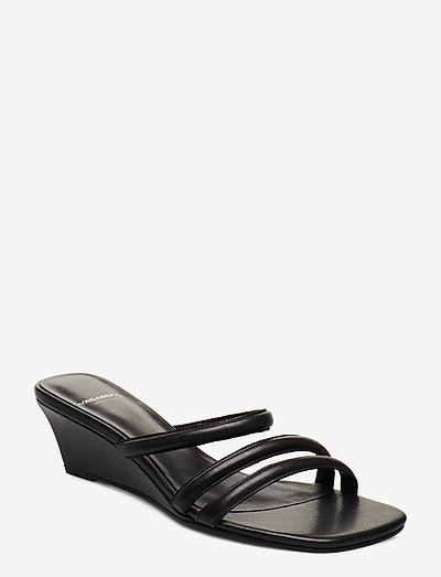 NELLIE - sandały na obcasie - black