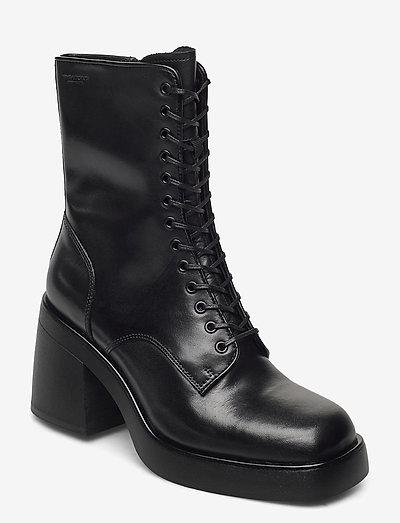 BROOKE - ankelstøvler med hæl - black