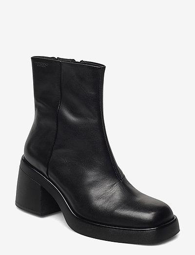 BROOKE - heeled ankle boots - black