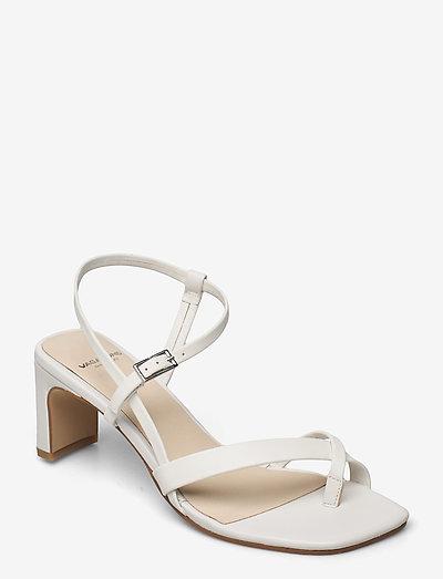LUISA - sandały na obcasie - white