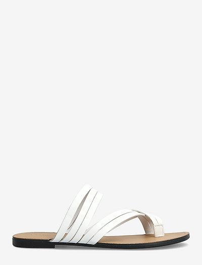TIA - flat sandals - white