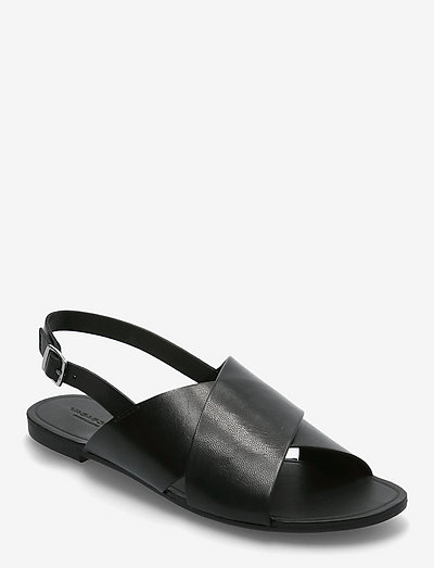 TIA - platte sandalen - black