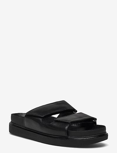 ERIN - płaskie sandały - black
