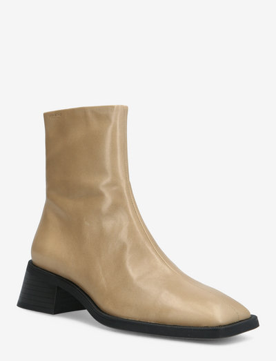 BLANCA - flat ankle boots - beige
