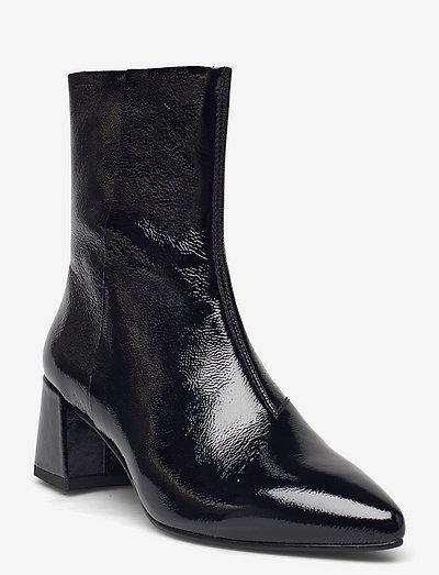 ALVA - ankelstøvler med hæl - black