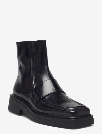 EYRA - flade ankelstøvler - black