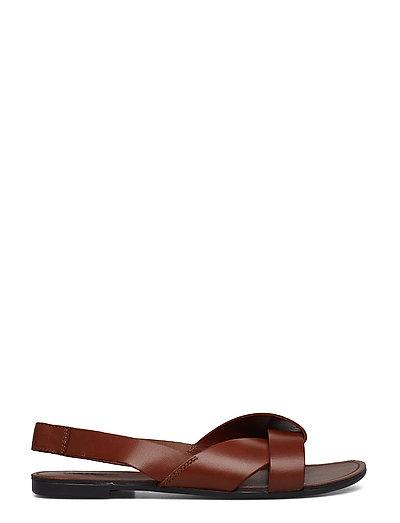 TIA - flache sandalen - cognac