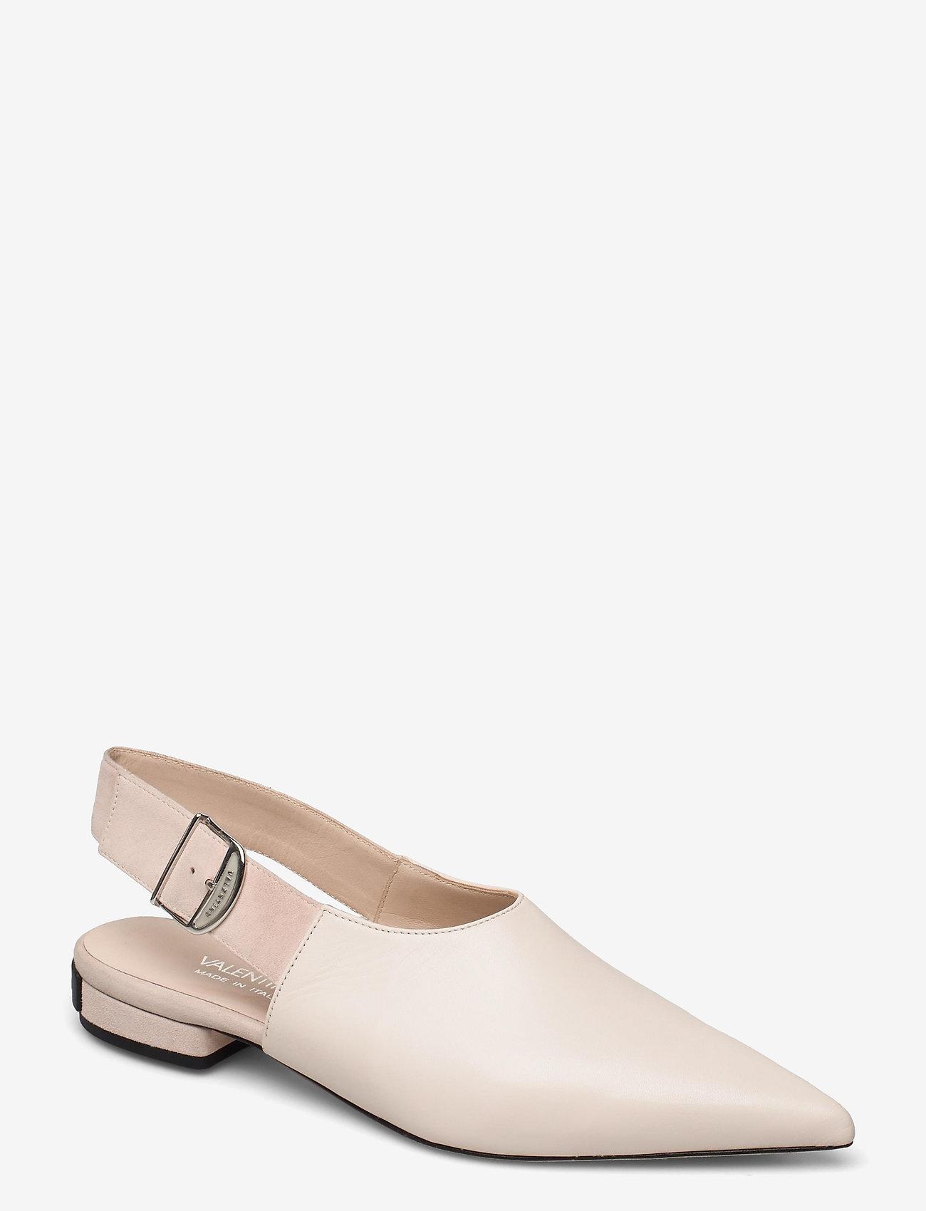 Valentino Shoes - SLINGBACK AND VALENTINO BUCKLE - ballerinas - white - 0