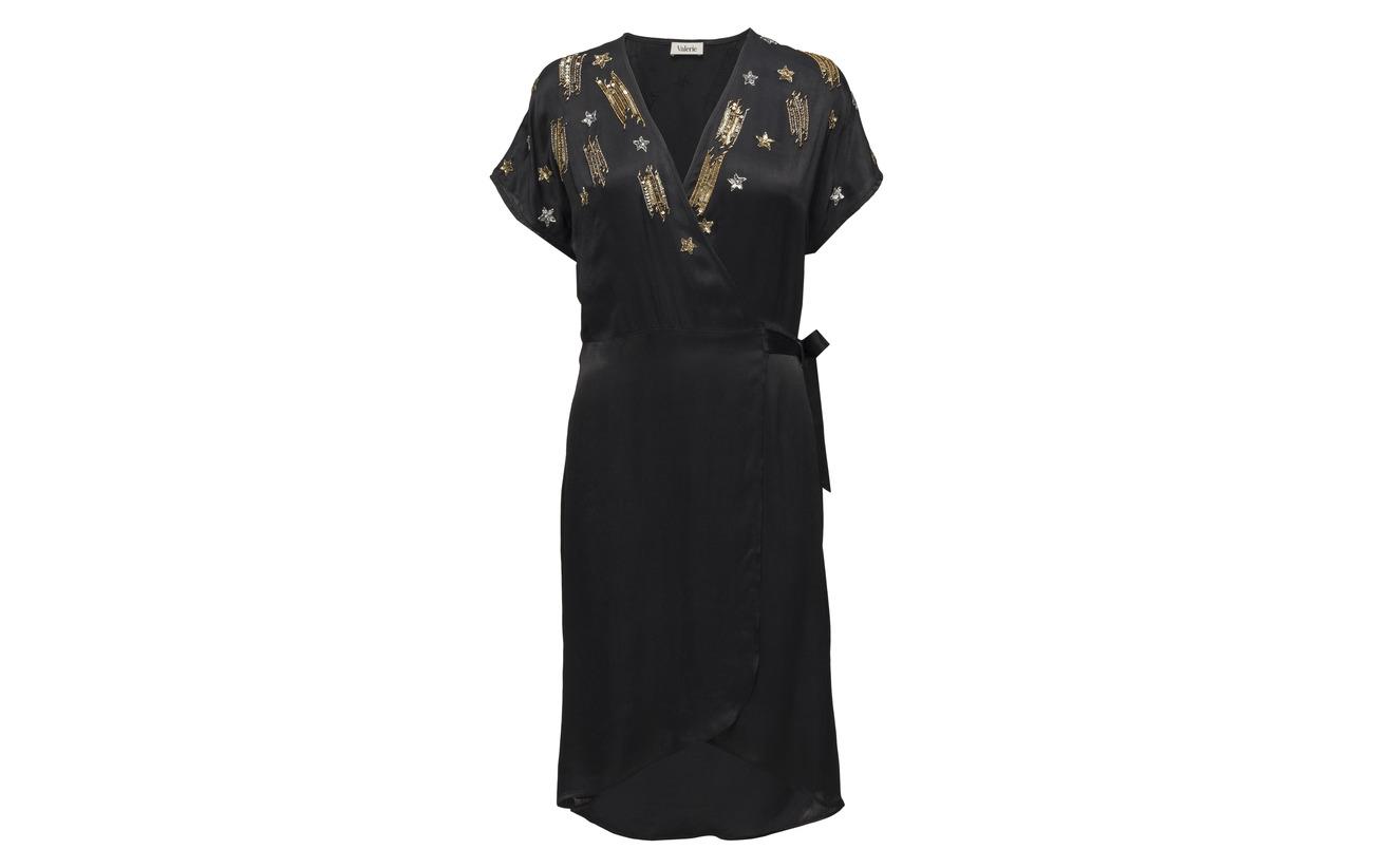 Valerie Viscose 100 Équipement Dress Vegas Black wq64av