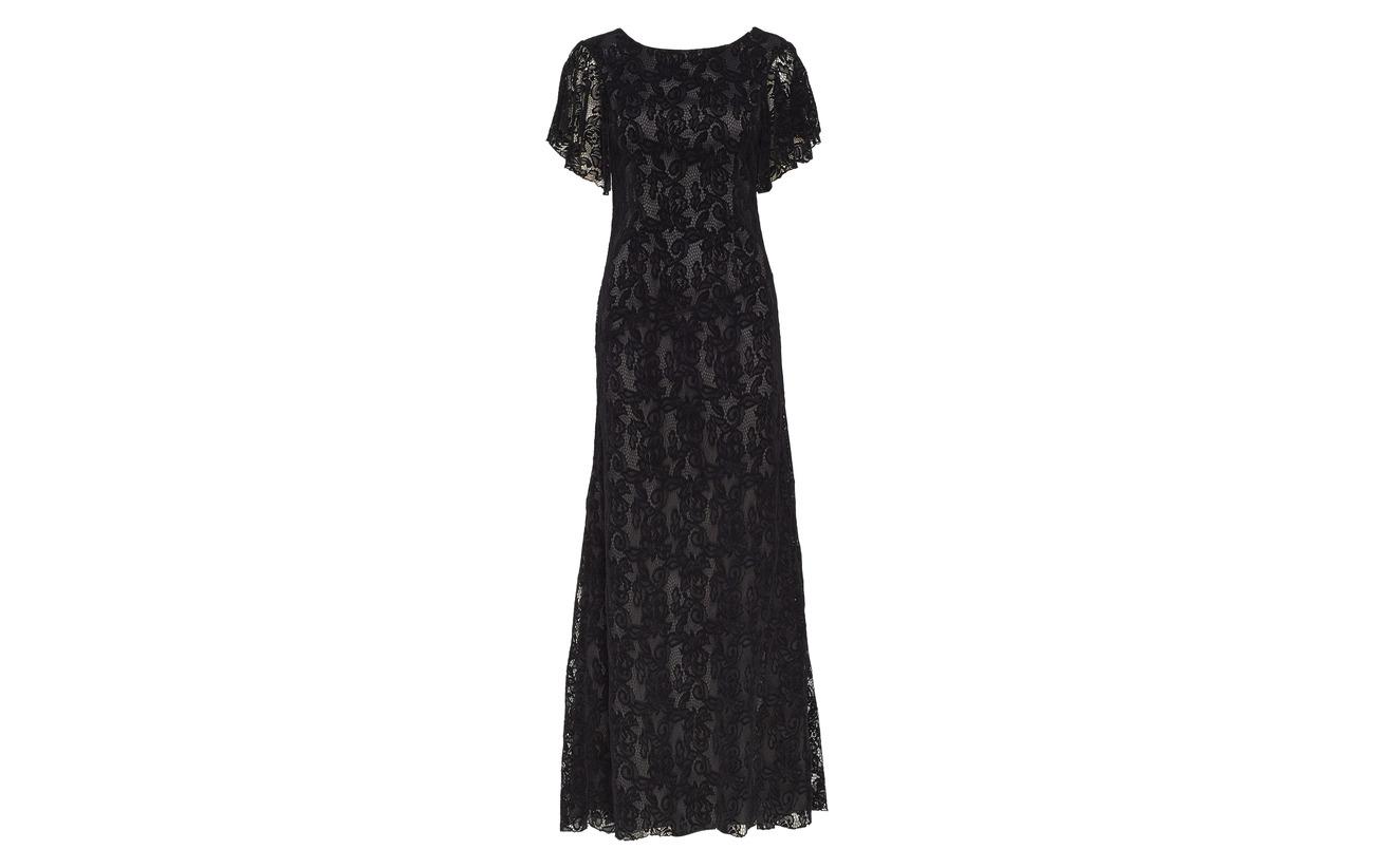 5 Dress Black Équipement Polyamide Doublure Billy Polyester 95 Intérieure 100 Long Valerie Elastane Oq6nfwx8w