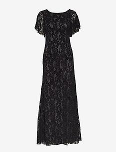 Billy Long Dress - koronkowe sukienki - black