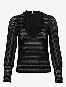 NARIMA - bluzki dlugim rekawem - noir
