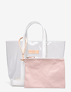 CABAS MOYEN - fashion shoppers - blanc/chair
