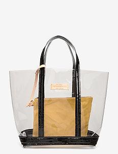 CABAS MOYEN - fashion shoppers - noir/citron