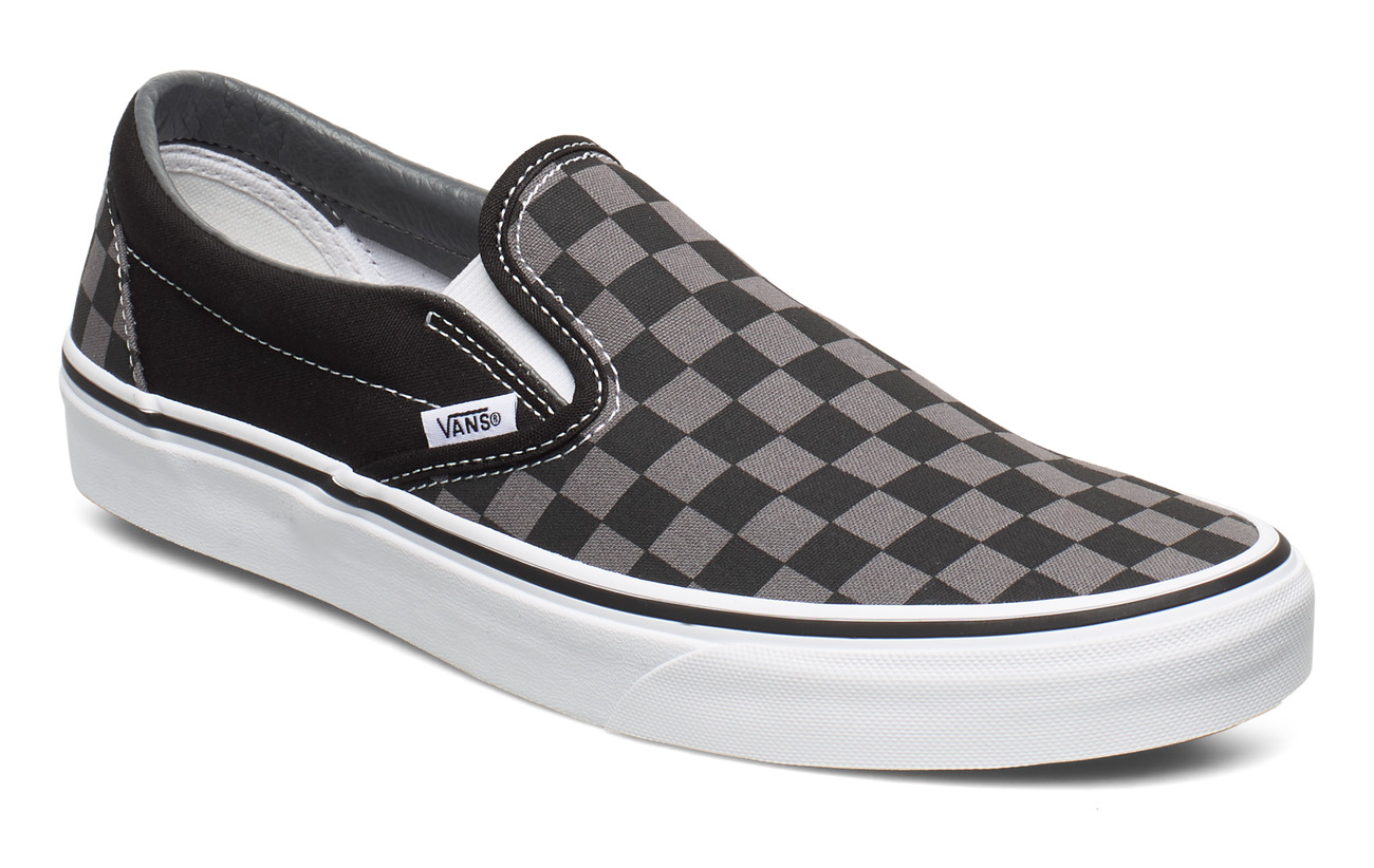 VANS UA Classic Slip-On - BLACK/PEWTER CHECKERBOARD