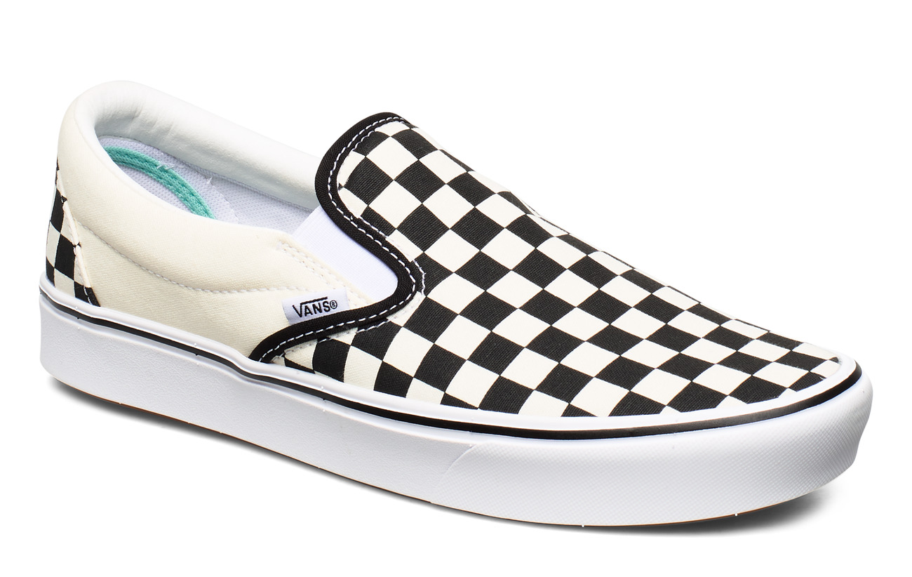 VANS UA ComfyCush Slip- (CHECKER, 3.5, Medium - (CLASSIC) CHECKERBOARD/TR
