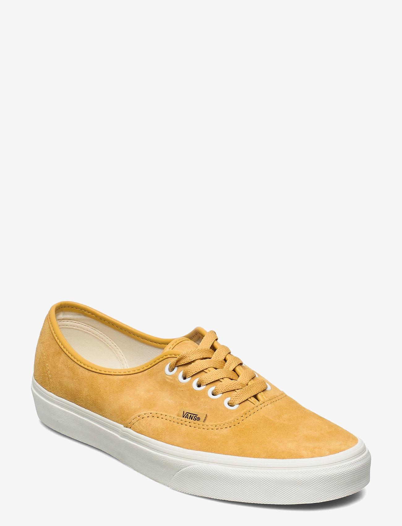 VANS - UA Authentic - laag sneakers - (pig suede)honeygoldtrwht - 0