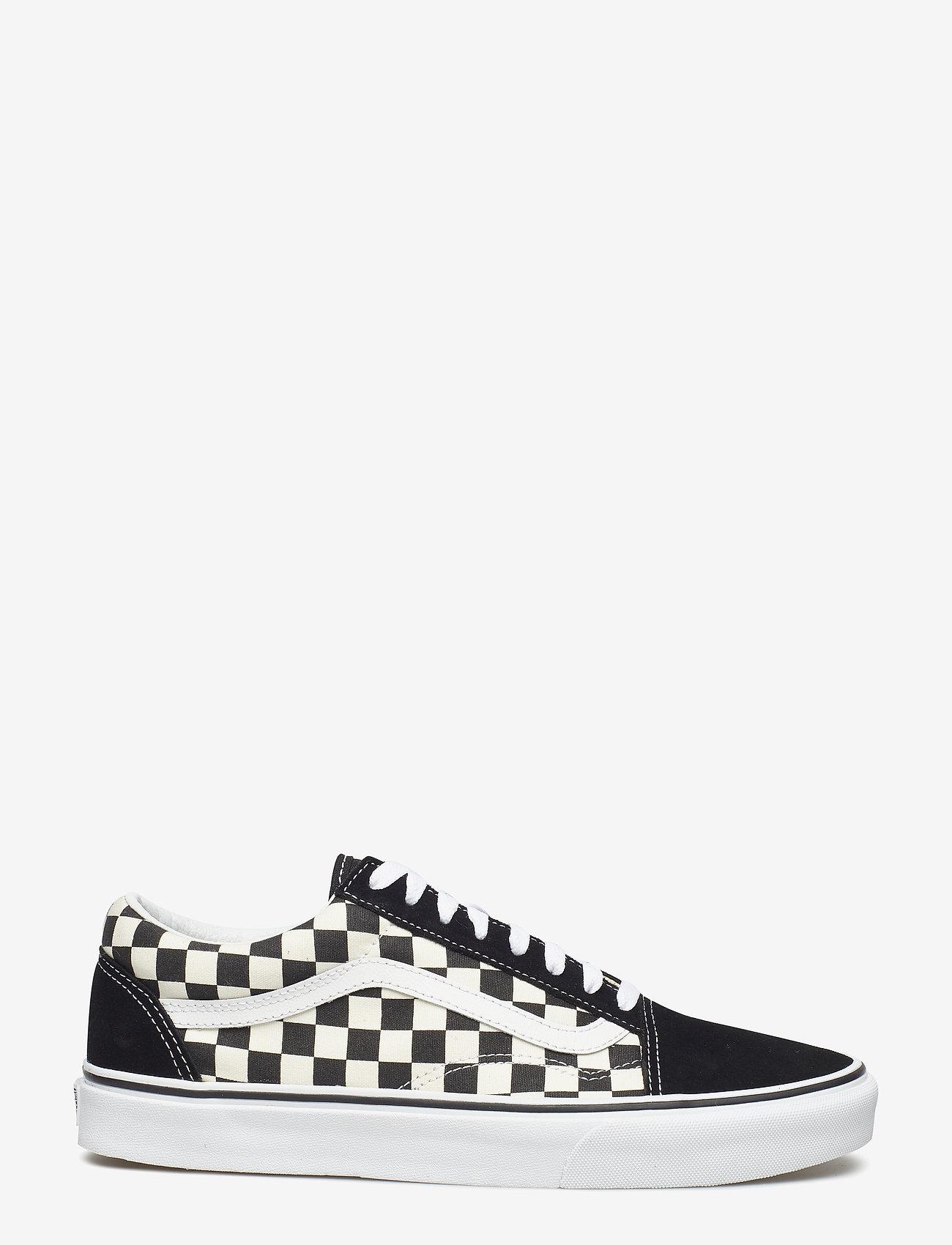 VANS - UA Old Skool - laag sneakers - (primary check) blk/white - 1