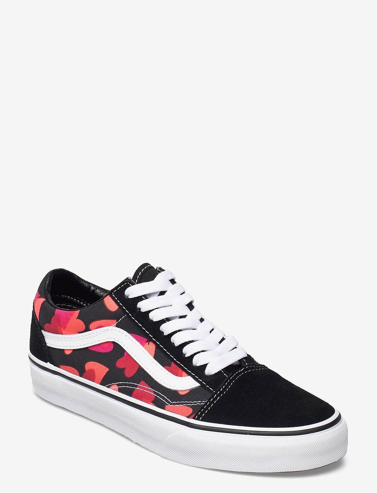 VANS - UA Old Skool - lave sneakers - (valentneshrts)blkfchsprp - 0