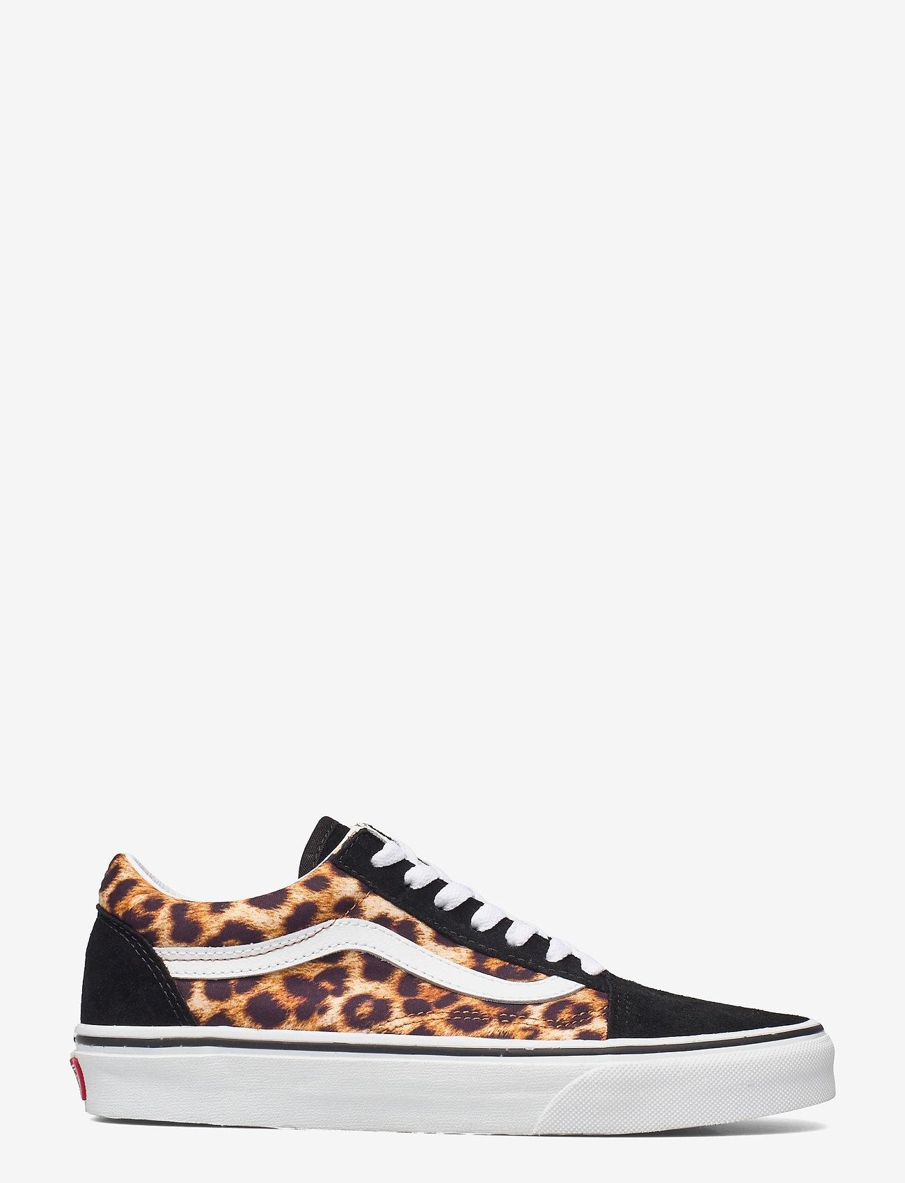VANS - UA Old Skool - lage sneakers - (leopard) black/truewhite - 1