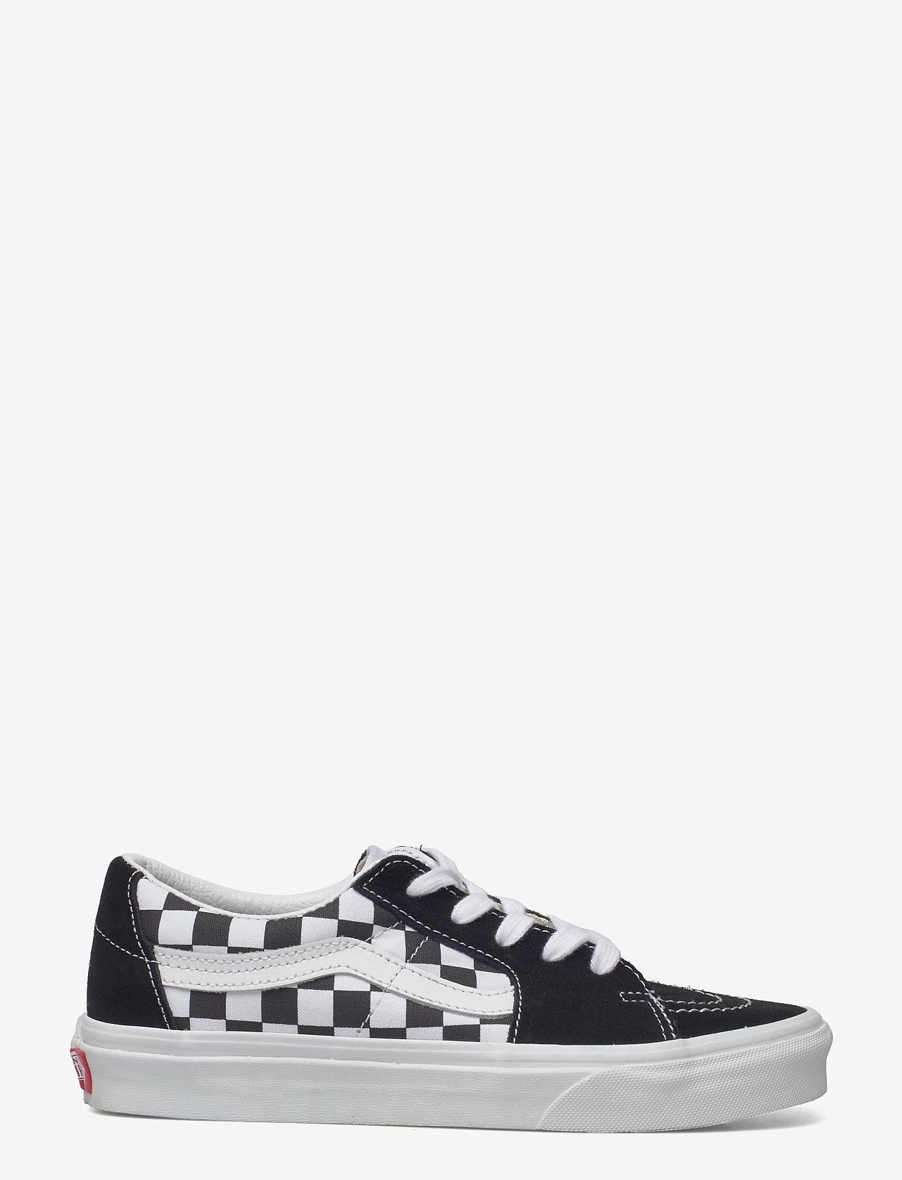 VANS - UA SK8-Low - laag sneakers - (canvas/suede)blkchckrbrd - 1