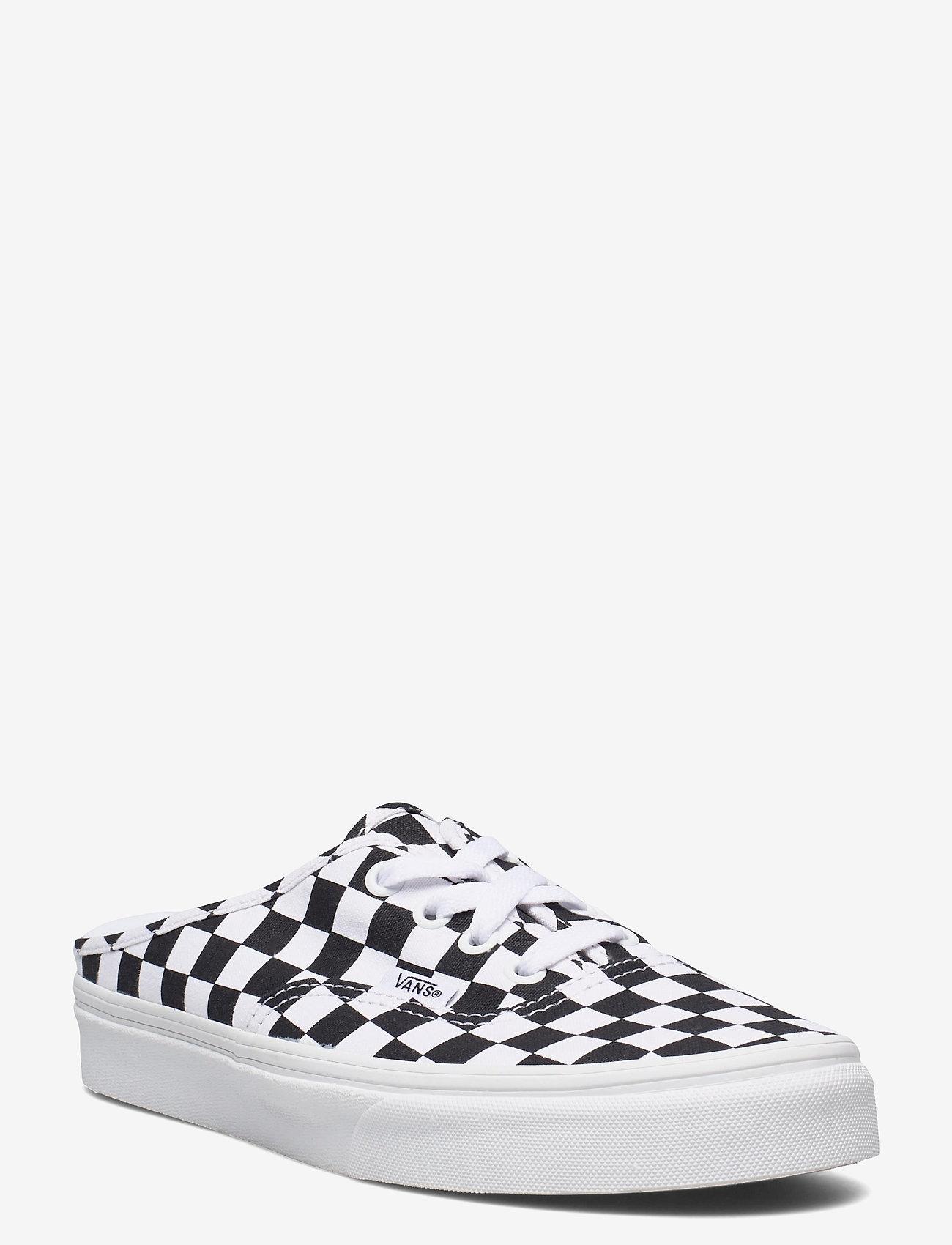 VANS - UA Authentic Mule - sko - (checkerboard) blk/truwht - 1