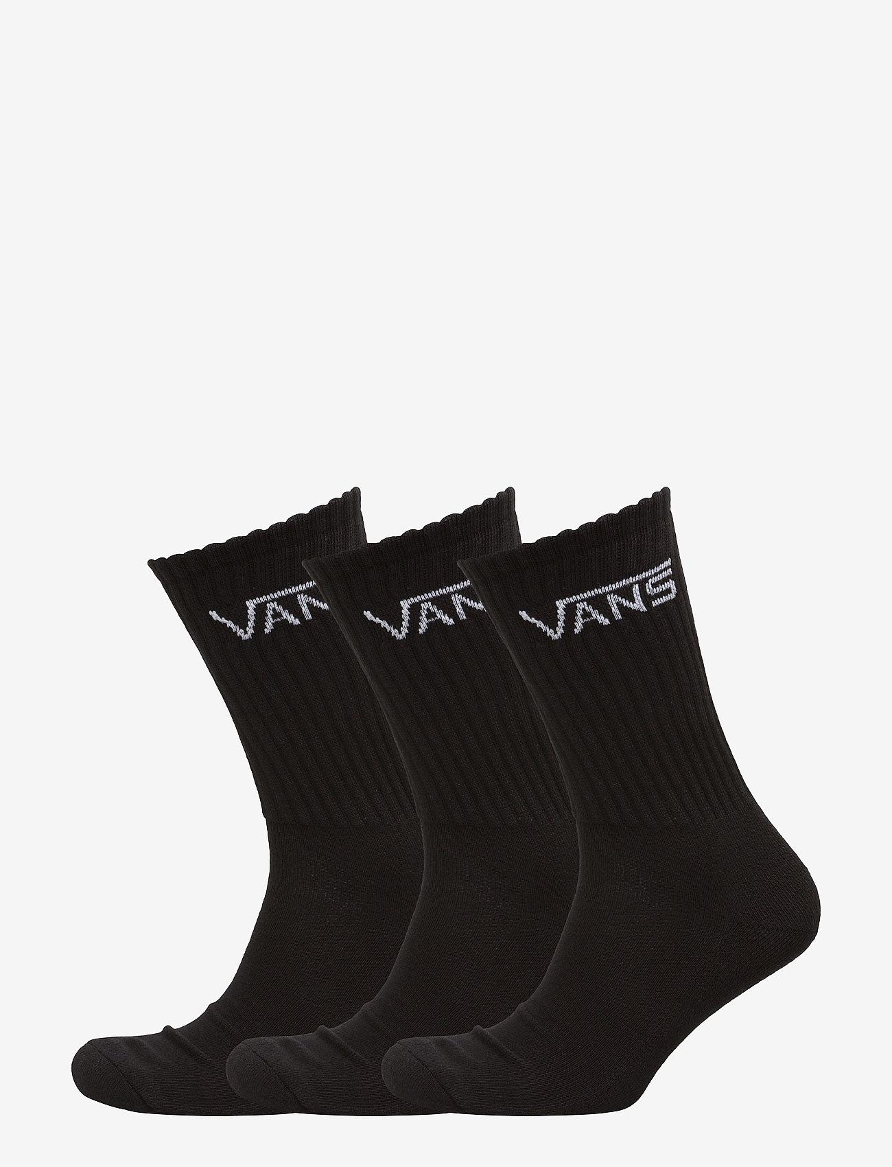 VANS - CLASSIC CREW (6.5-9, 3PK) - Įprasto ilgio kojinės - black - 0
