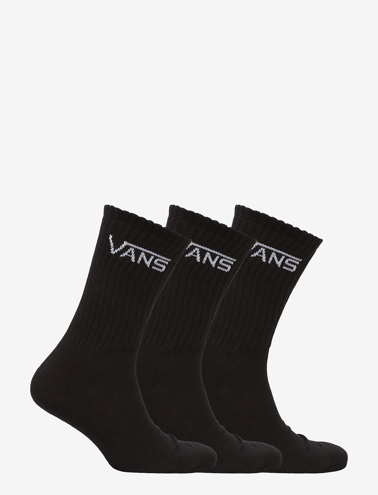 VANS - CLASSIC CREW (6.5-9, 3PK) - Įprasto ilgio kojinės - black - 1