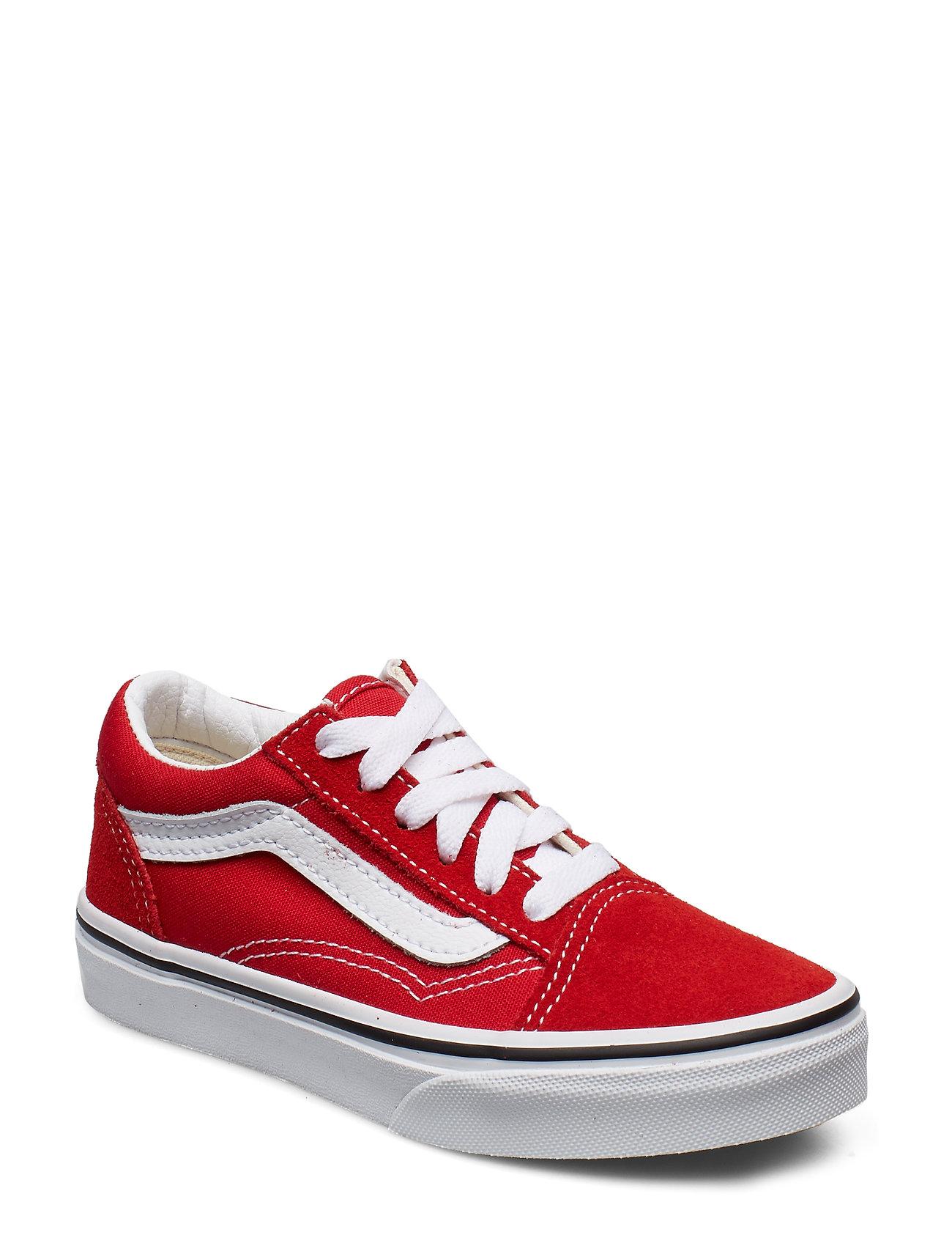 VANS UY Old Skool RACING RED/TRUE - RACING RED/TRUE WHITE