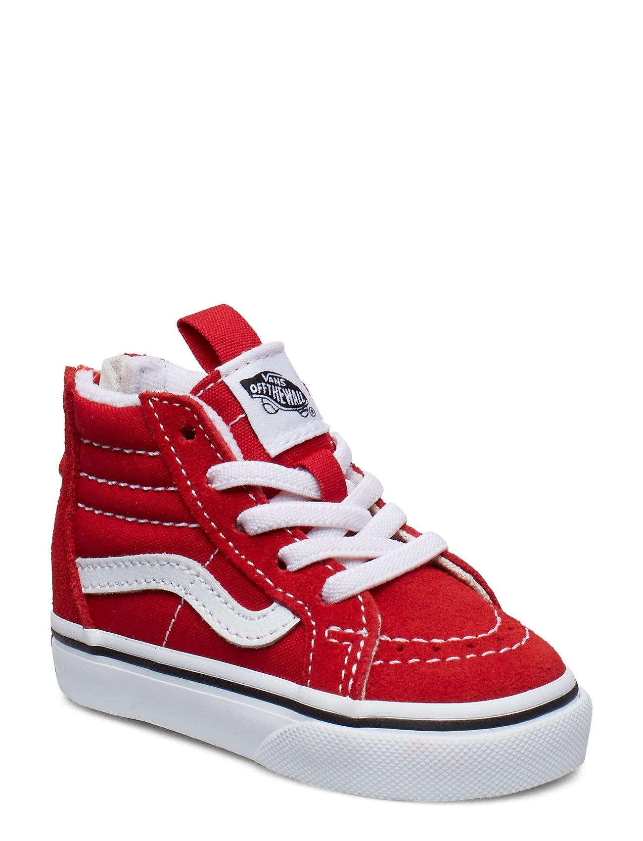 VANS TD SK8-Hi Zip RACING RED/TRUE - RACING RED/TRUE WHITE