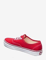 VANS - UA Authentic - laag sneakers - red - 2