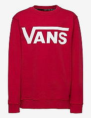 VANS - VANS CLASSIC CREW BOYS - sweatshirts - chili pepper/white - 0