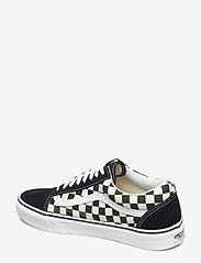 VANS - UA Old Skool - laag sneakers - (primary check) blk/white - 2