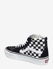 VANS - UA SK8-Hi Platform 2.0 - chunky sneakers - checkerboard/true white - 2