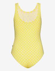 VANS - QUANTUM BODYSUIT - sportsbadetøy - lemon tonic checkerboard - 1