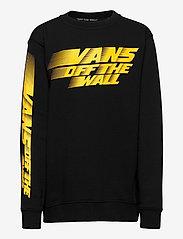 VANS - RACERS EDGE CREW BOYS - sweatshirts - black - 0