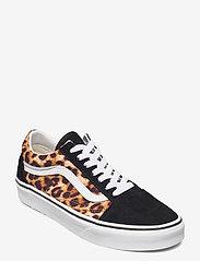 VANS - UA Old Skool - lage sneakers - (leopard) black/truewhite - 0