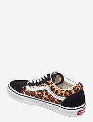 VANS - UA Old Skool - lage sneakers - (leopard) black/truewhite - 2