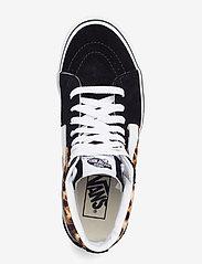 VANS - UA SK8-Hi - hoge sneakers - (leopard) black/truewhite - 3