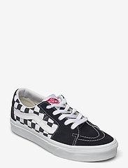 VANS - UA SK8-Low - laag sneakers - (canvas/suede)blkchckrbrd - 0