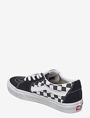 VANS - UA SK8-Low - laag sneakers - (canvas/suede)blkchckrbrd - 2