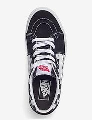 VANS - UA SK8-Low - laag sneakers - (canvas/suede)blkchckrbrd - 3